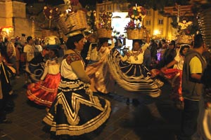 Traditional Oaxacan Dancers at Christmas